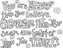 Free Positive Quote Colouring Sheets Thedoodlechroniclesblog