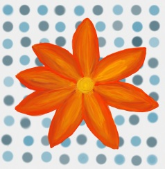 dotty-flower-card
