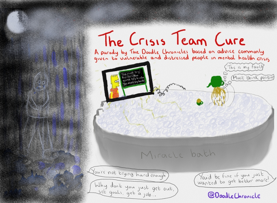 'The Crisis Team Cure: A Parody of Advice Commonly Given to Vulnerable & Distressed People in Mental Health Crisis'