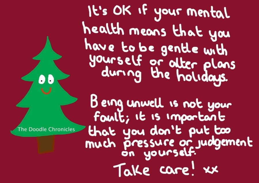 The Struggles of Mental Illness Don't Stop Over the Holidays: Please be Gentle With Yourself and Others
